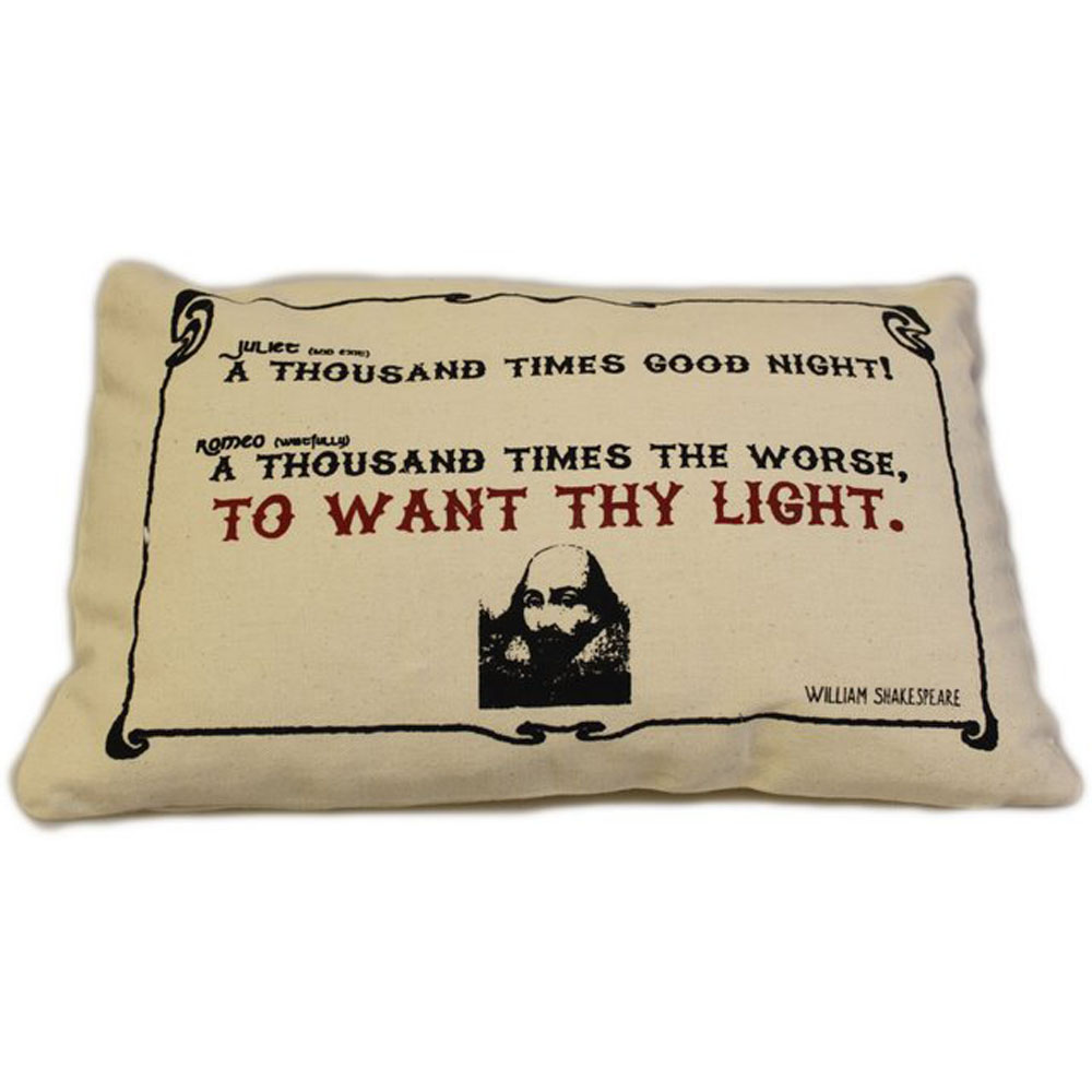 CUSCINI LETTERARI - Copricuscino in Juta lavata / Cotton pillow case  WANT THY LIGHT - Size 38x25cm