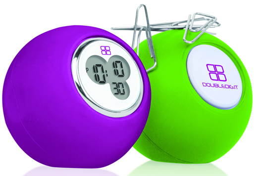 DOUBLEDIGIT - DESKY LIGHT GREEN/PURPLE (magnetic desk clock)