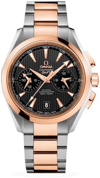 "Pánske hodinky Omega ""AQUA TERRA 150M CO‑AXIAL GMT CHRONOGRAPH 43 MM"""